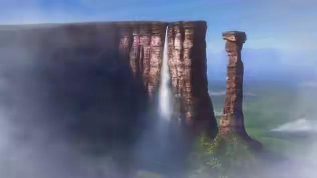شلالات Angel غرب فنزويلا