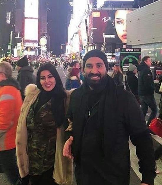سمية الخشاب وزوجها المطرب احمد سعد