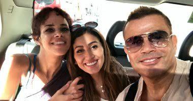 عمرو دياب وابنته نور ودينا الشربيني