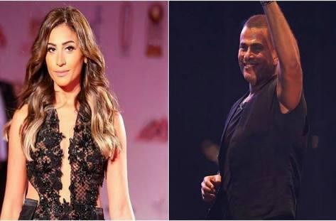 حقيقة زواج عمرو دياب من دينا الشربيني