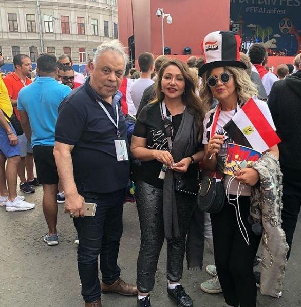 ليلى علوي وبوسي شلبي في روسيا
