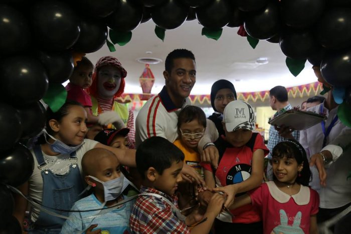 محمد رمضان يتبرع بـ 5 مليون جنيه لمستشفى سرطان الأطفال