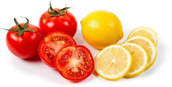 وصفة الطماطم والليمون لتقشير البشرة