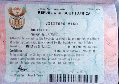 فيزا جنوب افريقيا