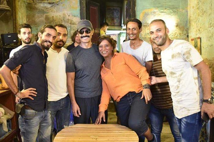 خالد النبوي وفريق عمل فيلم يوم مصري