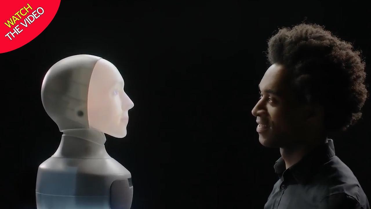 روبوت على هيئة رأس إنسان